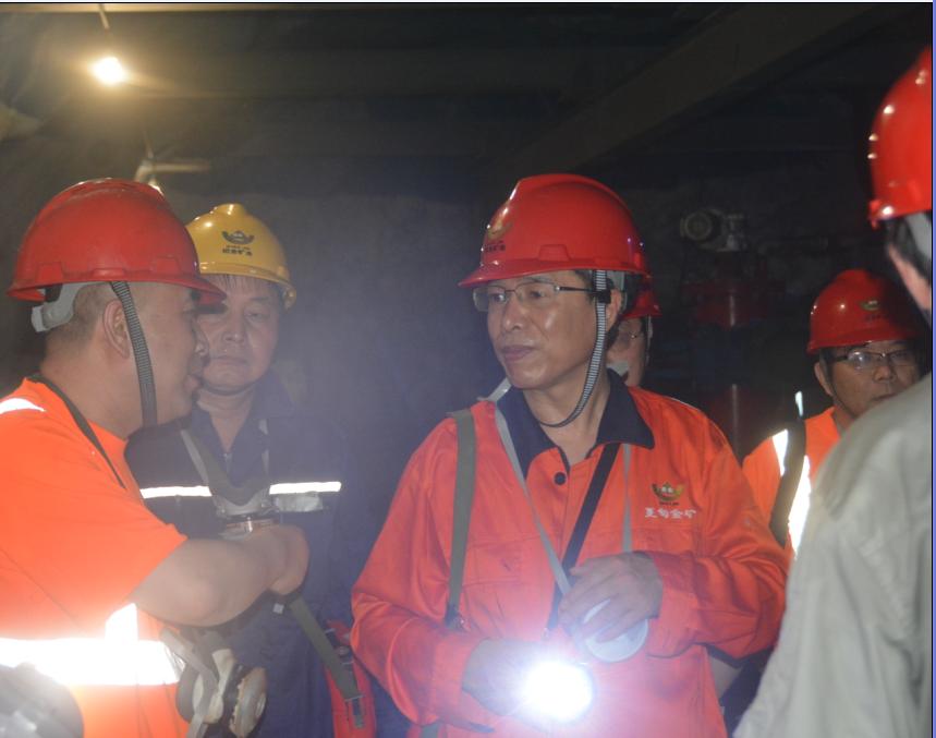 招金矿业总裁李秀臣率调研组到六家企业实地调研