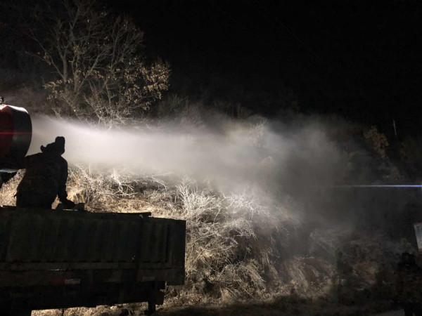 豐寧金龍利用人工造雪做好冬季防火工作